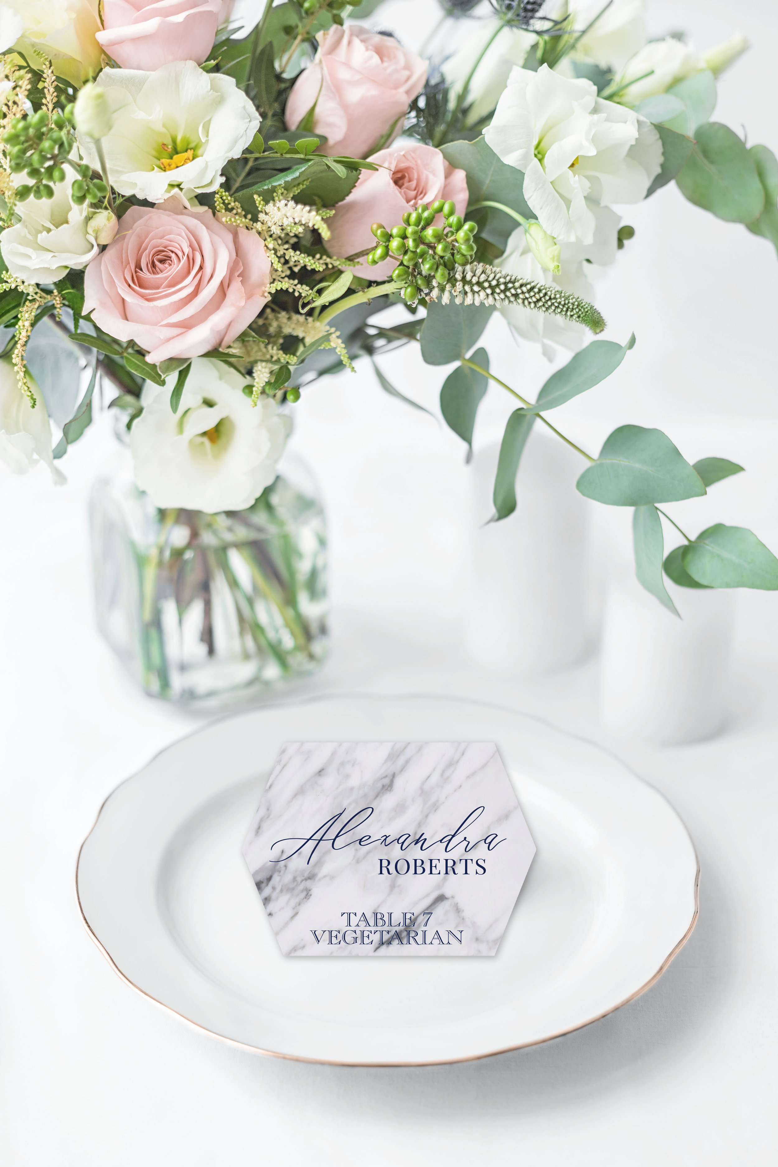 MARBLE HEXAGON TENT FOLD PLACE CARD.jpg