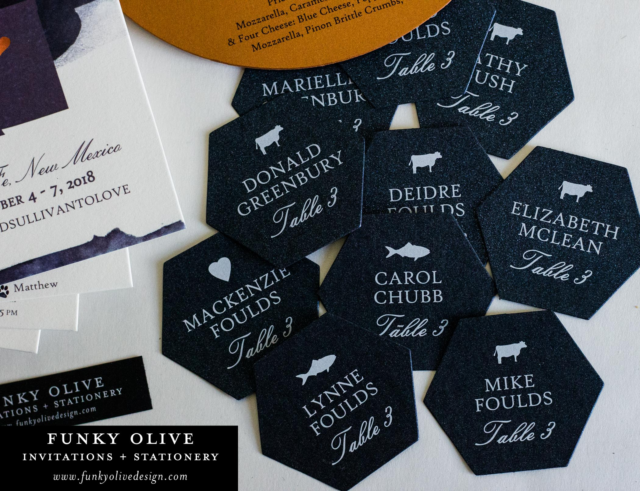 WHITE INK ON NAVY HEXAGON PLACE CARDS-2.jpg