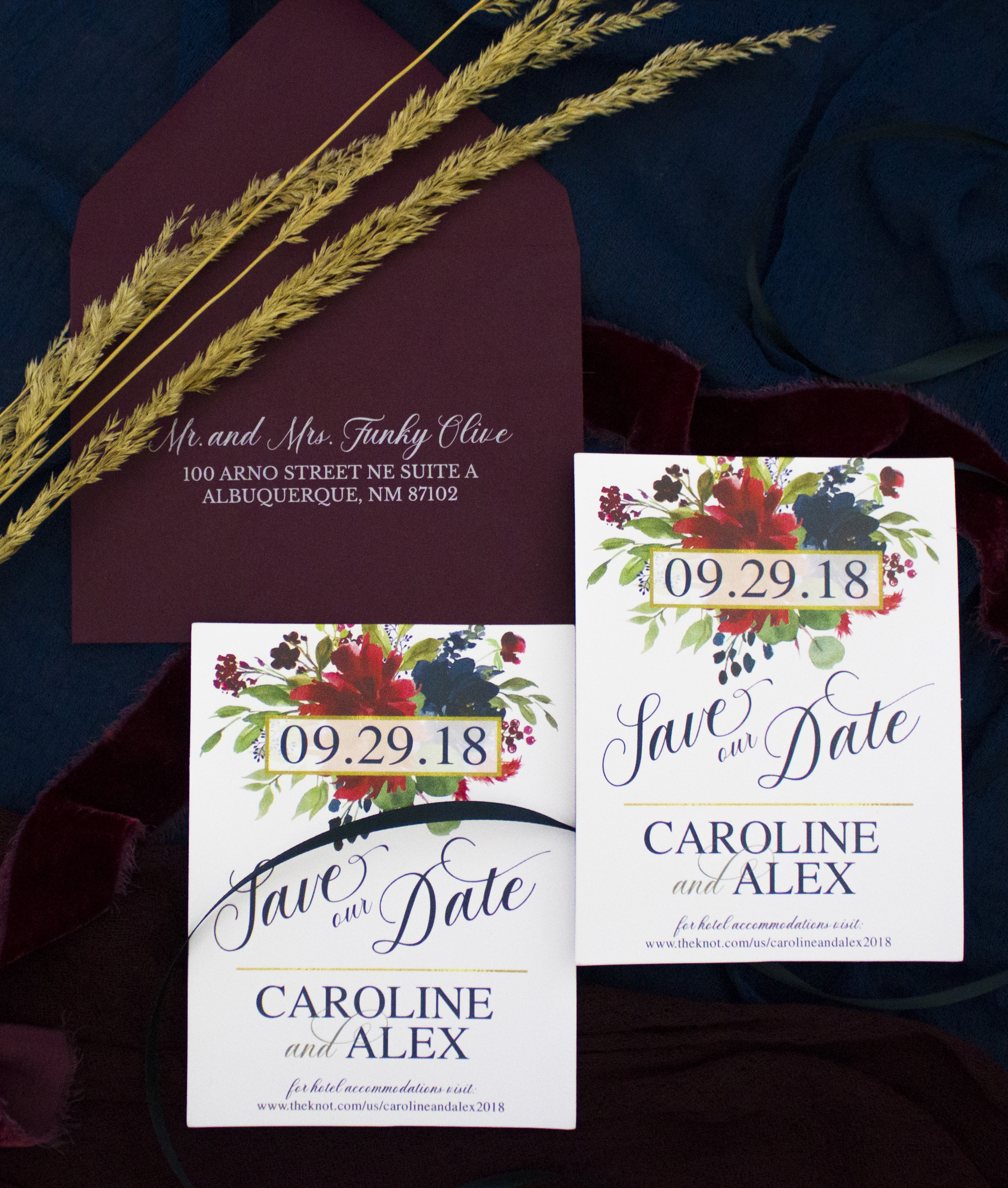 BURGUNDY AND NAVY FLORAL SAVE THE DATE4.jpg