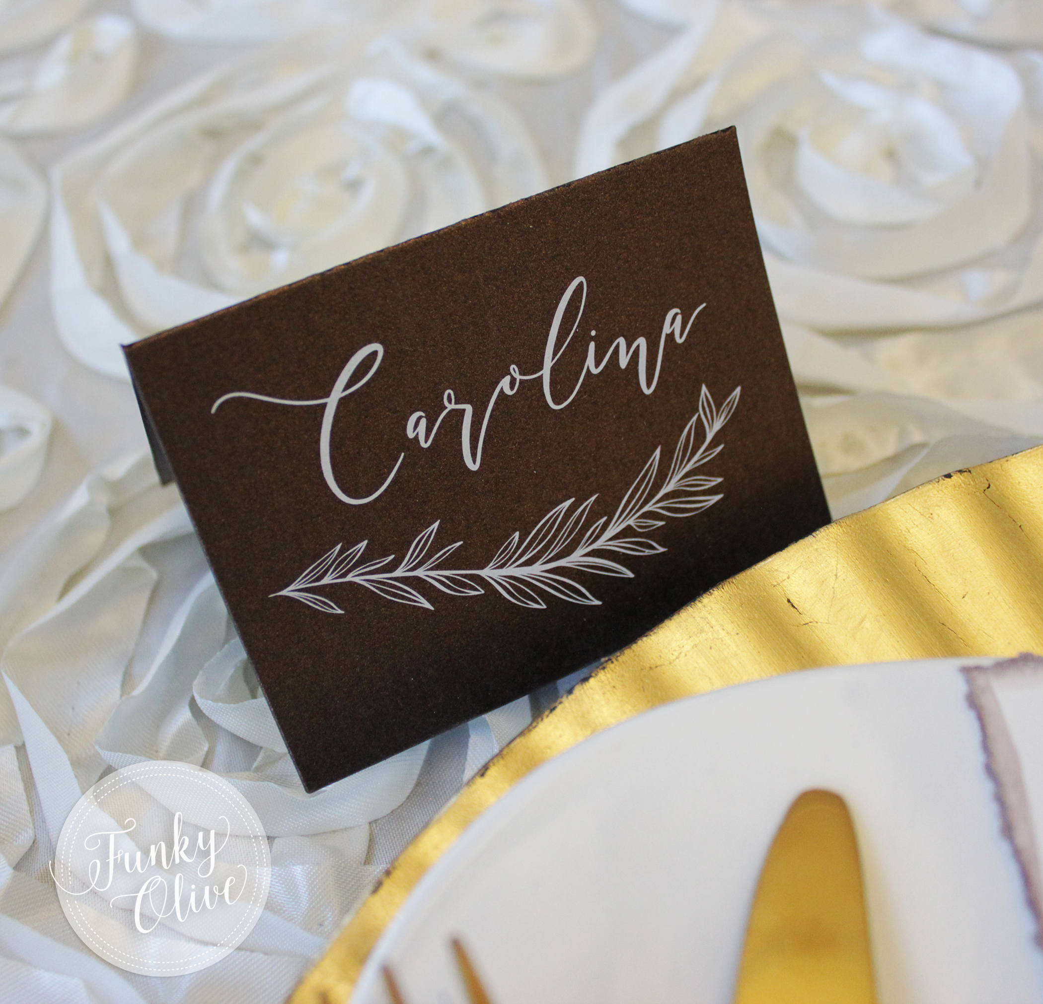 BRONZE WITH WHITE INK TENT PLACE CARD.jpg