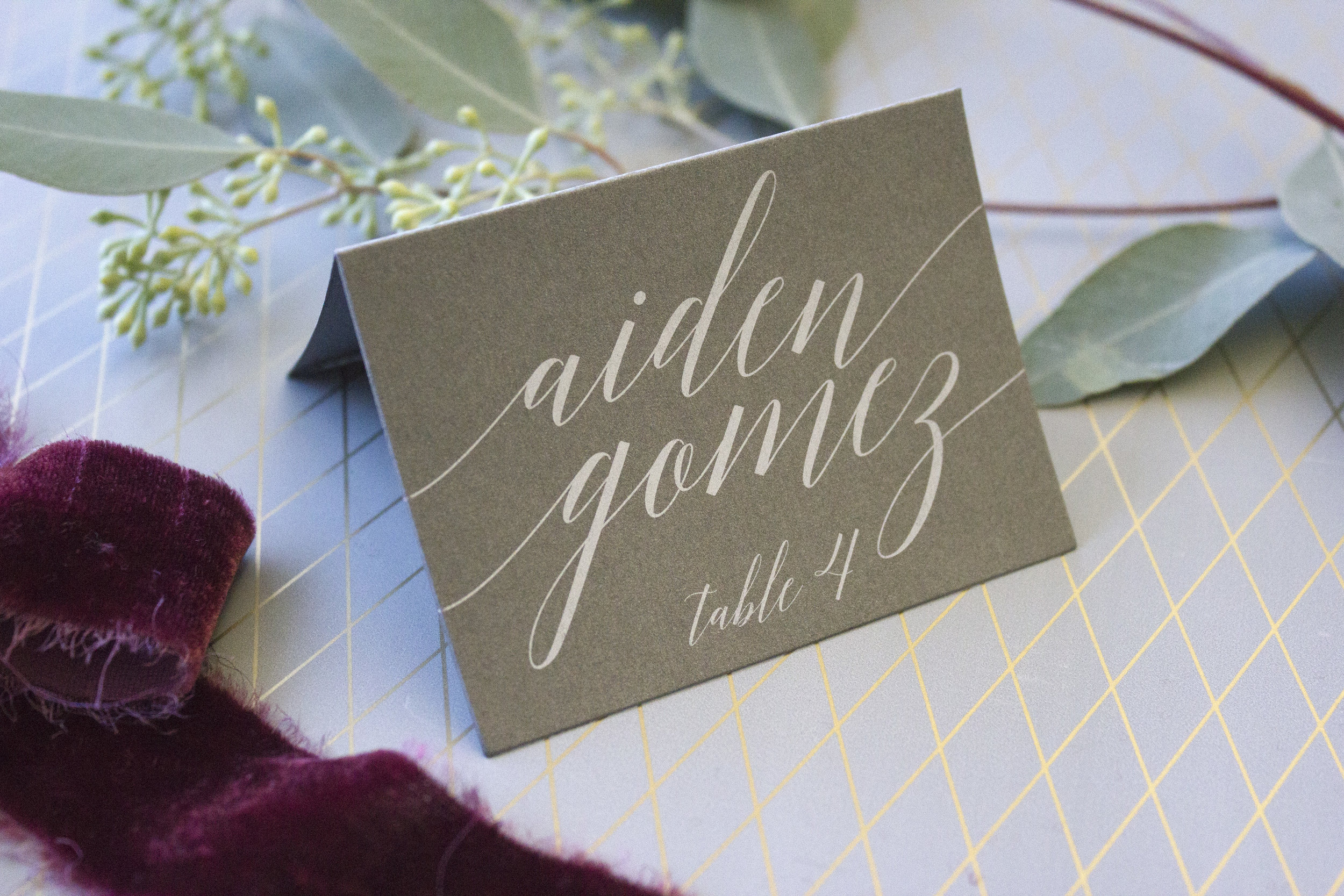 white ink on grey placecard1.jpg