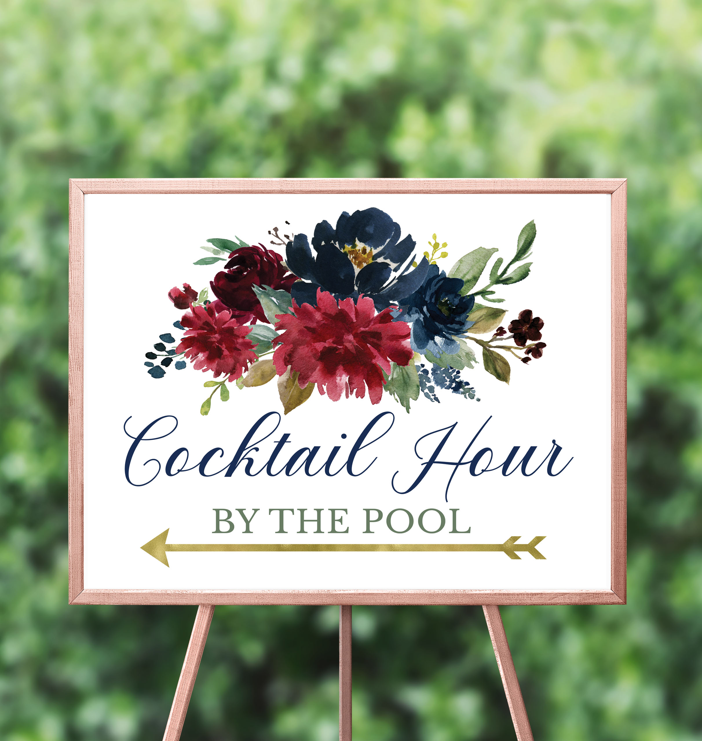 NAVY & BURGUNDY FLORAL COCKTAIL HOUR SIGN.jpg