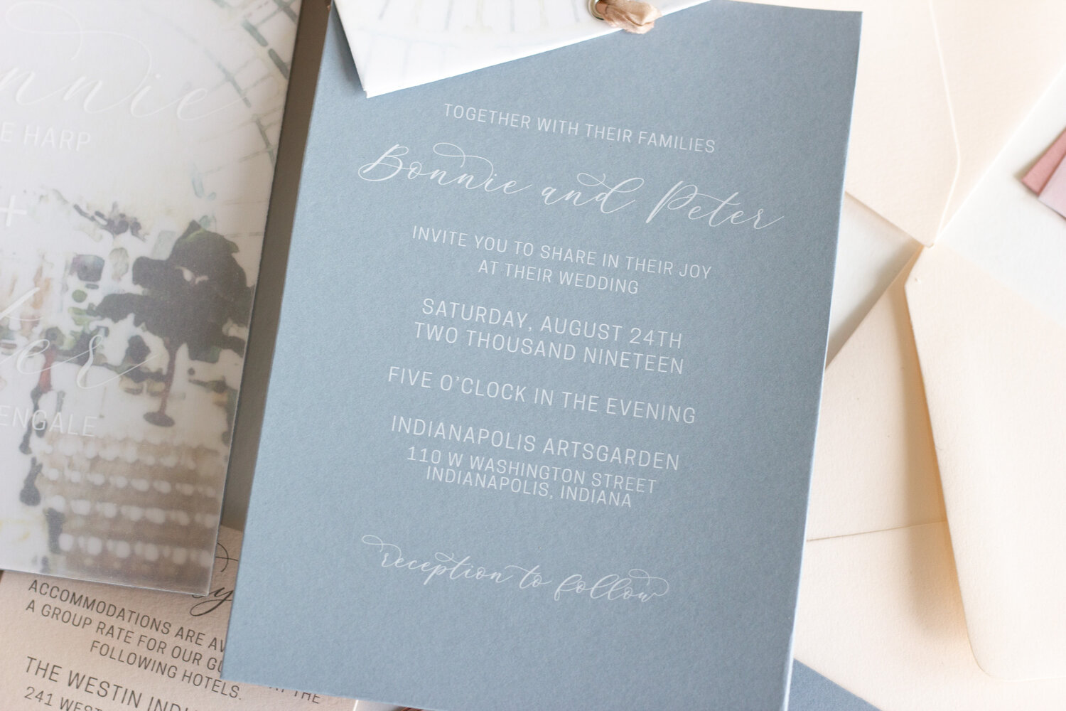 Monogrammed Bridal Save the Date Baby Blue Invitation Wedding Suite Teal Watercolor Floral Invitation Wax Seal Customized