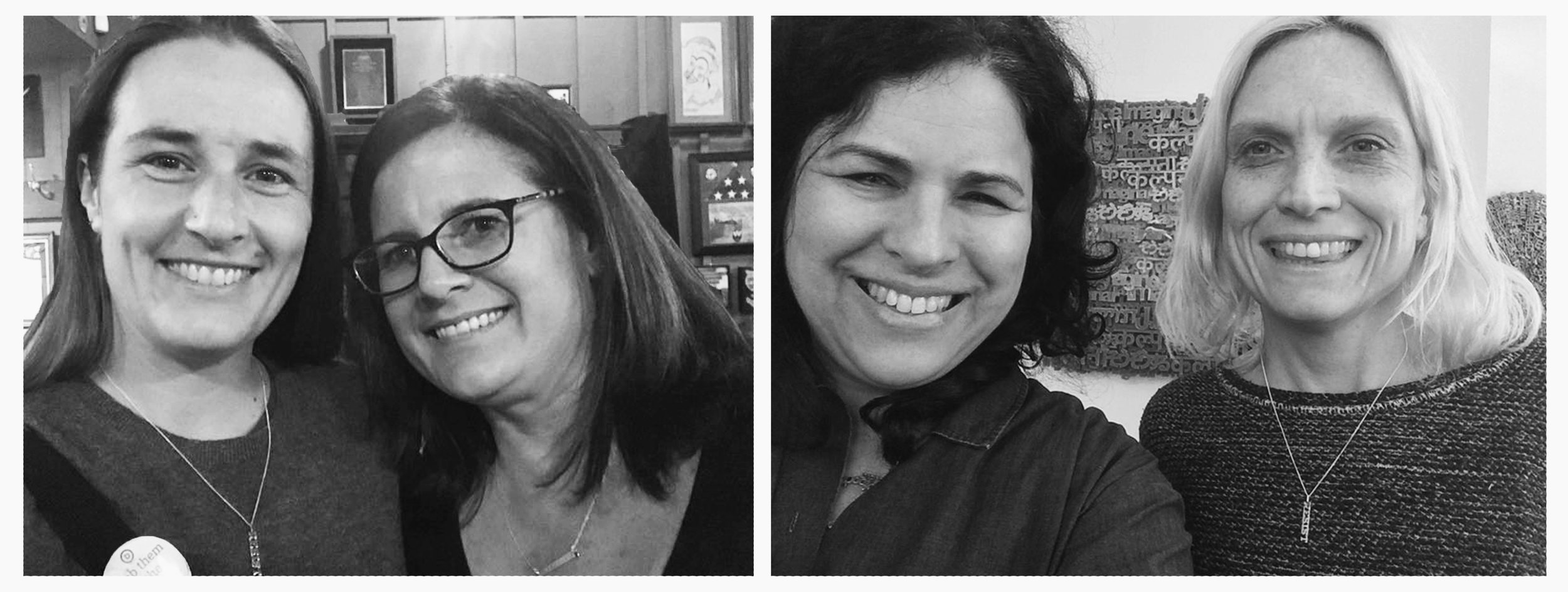 Left to right: Lesley Bauer with EC Gold | Yael Kanarek with Jennifer Flynn Walker