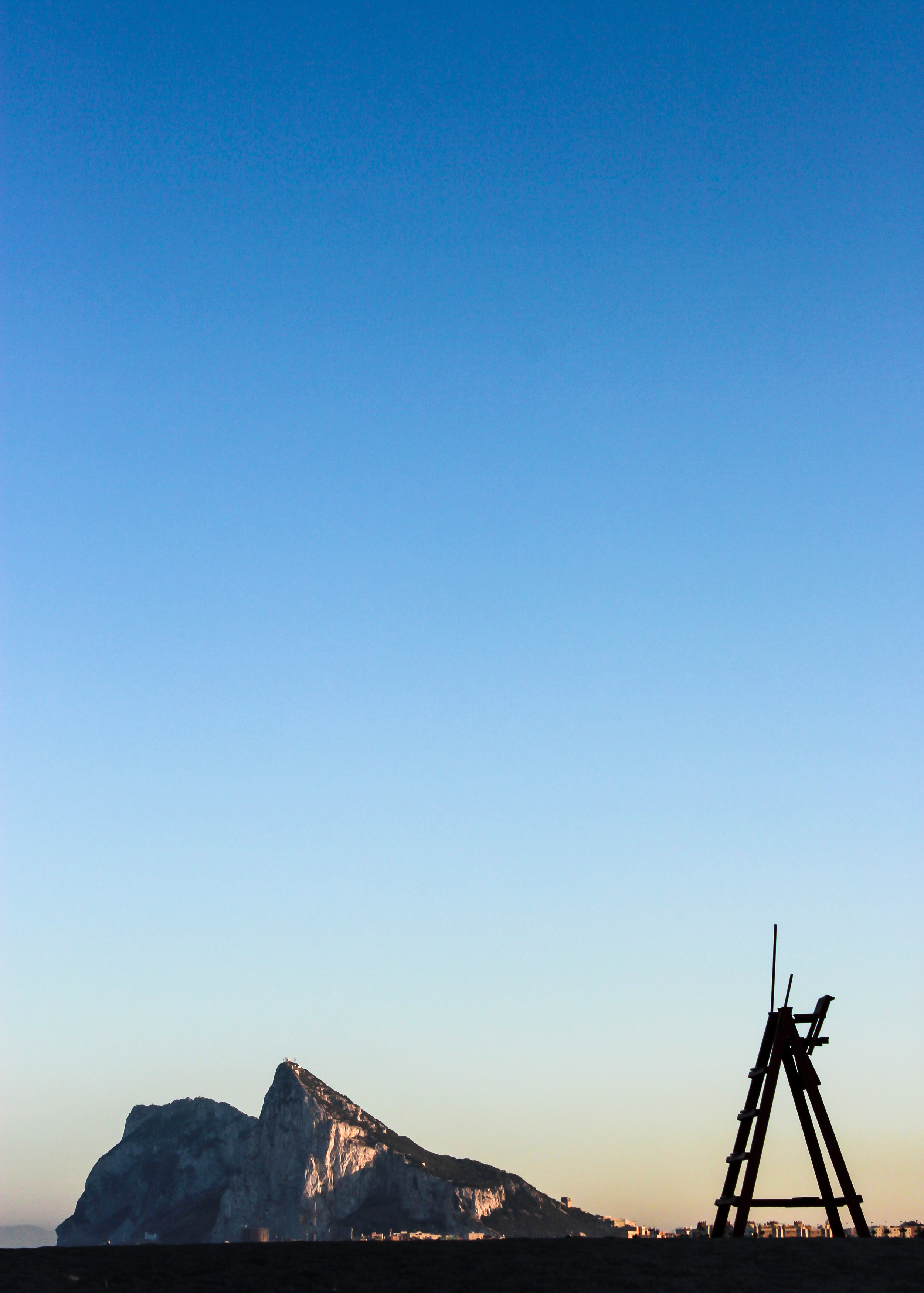 The Rock of Gibraltar. Santa Margarita, La Linea de la Concepcion, Mediterranean Sea ,  Andalusia, Spain, Europe | www.DoLessGetMoreDone.com |