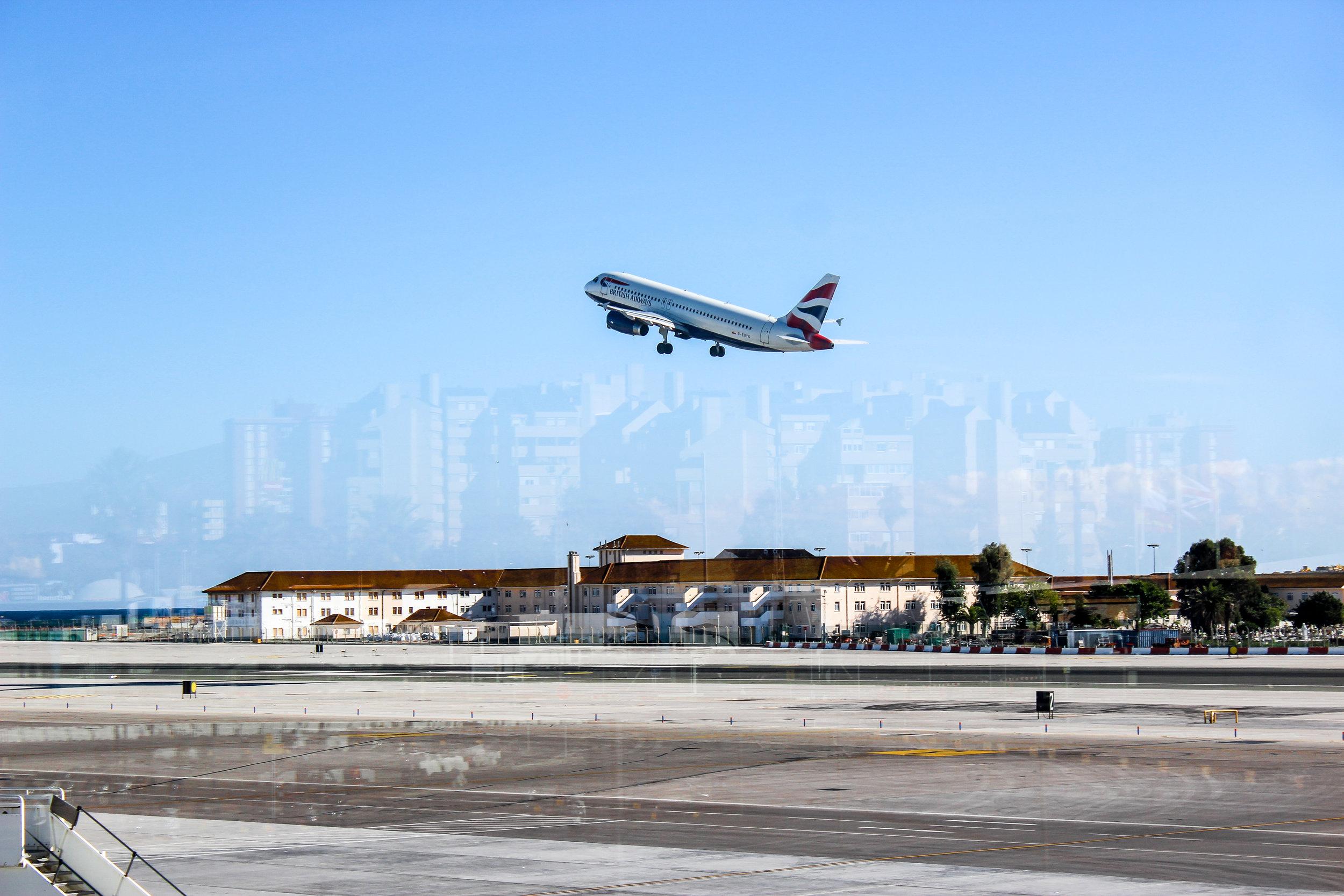 British Airways, Gibraltar International Airport, Gibraltar, British Overseas Territory, Europe | www.DoLessGetMoreDone.com |