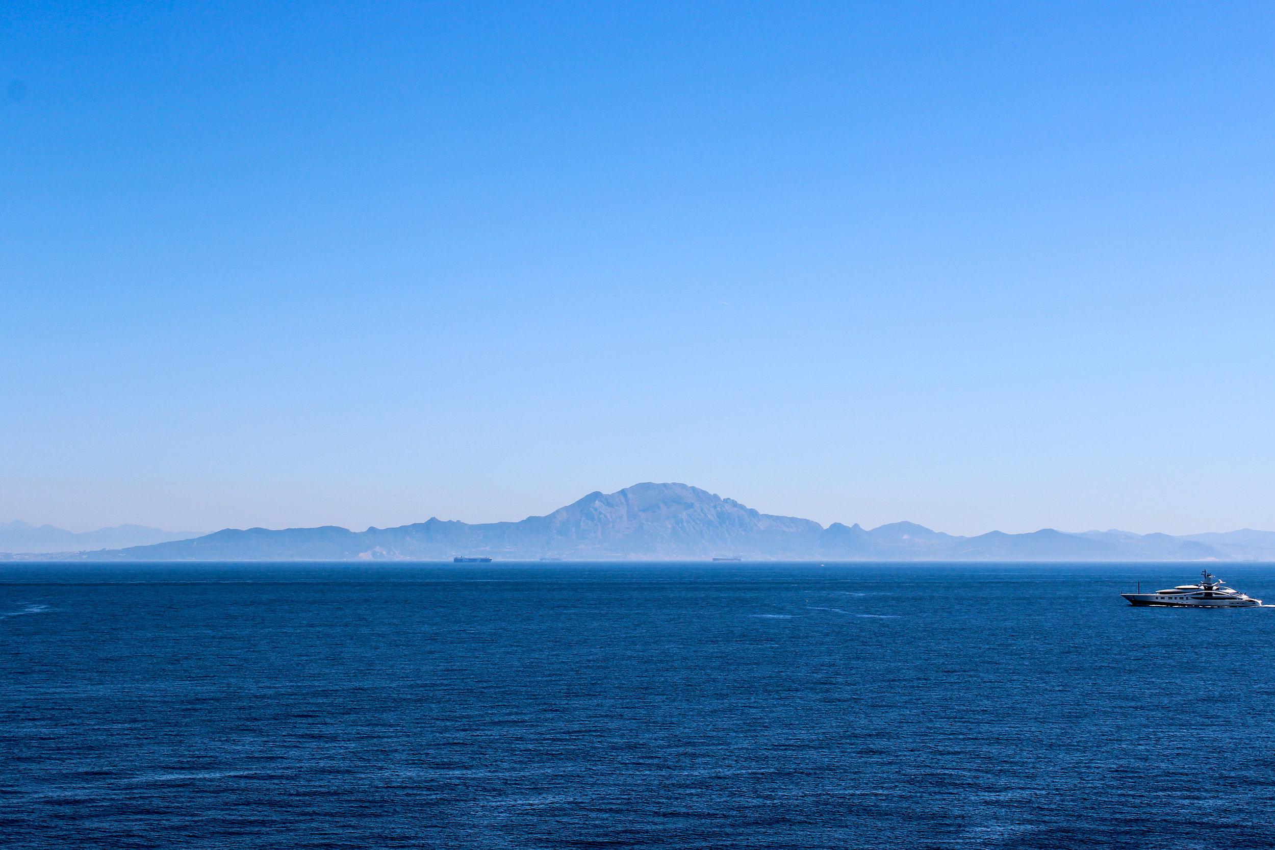 Morocco, Africa, Strait of Gibraltar, Europa Point, Mediterranean Sea, Gibraltar, British Overseas Territory, Europe  | www.DoLessGetMoreDone.com |