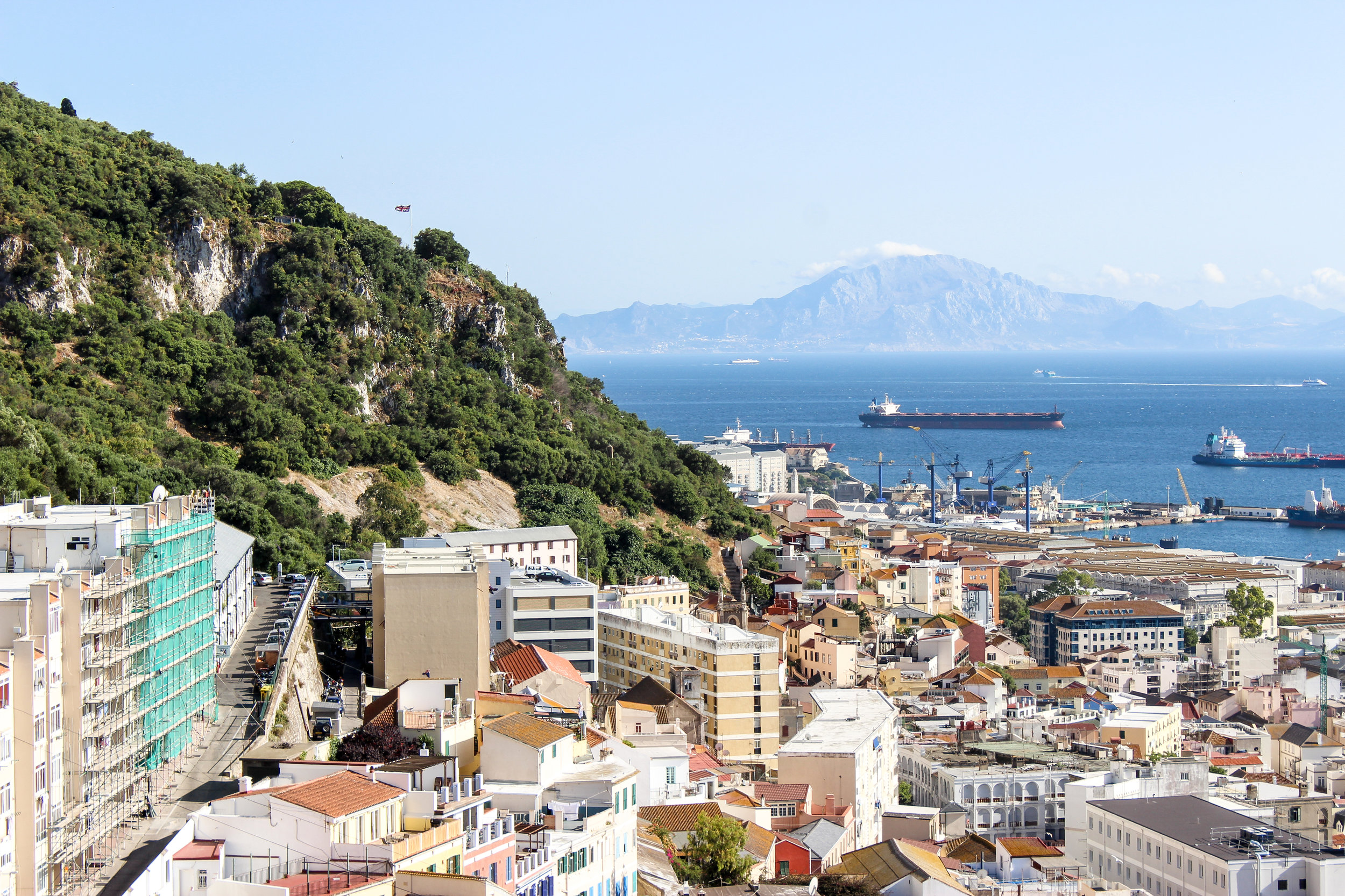 The Rock, Morocco, Moorish Castle, Gibraltar, British Overseas Territory, Europe | www.DoLessGetMoreDone.com |