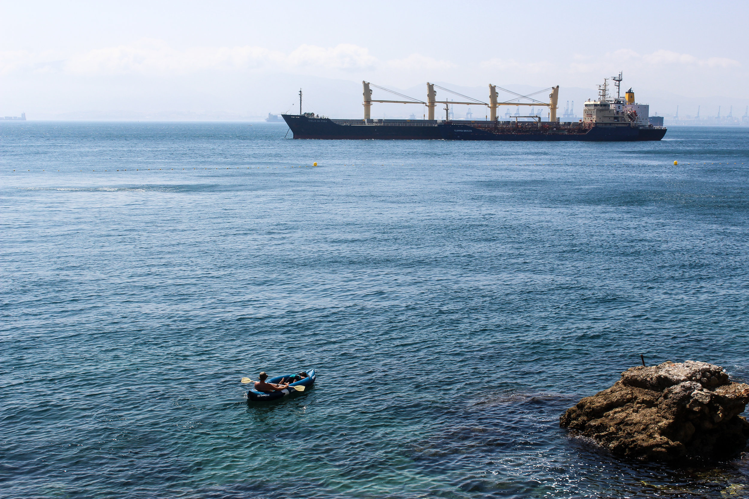 Port of Algeciras, Straits of Gibraltar, Gibraltar Bay, Mediterranean, Gibraltar, British Overseas Territory, Europe | www.DoLessGetMoreDone.com |