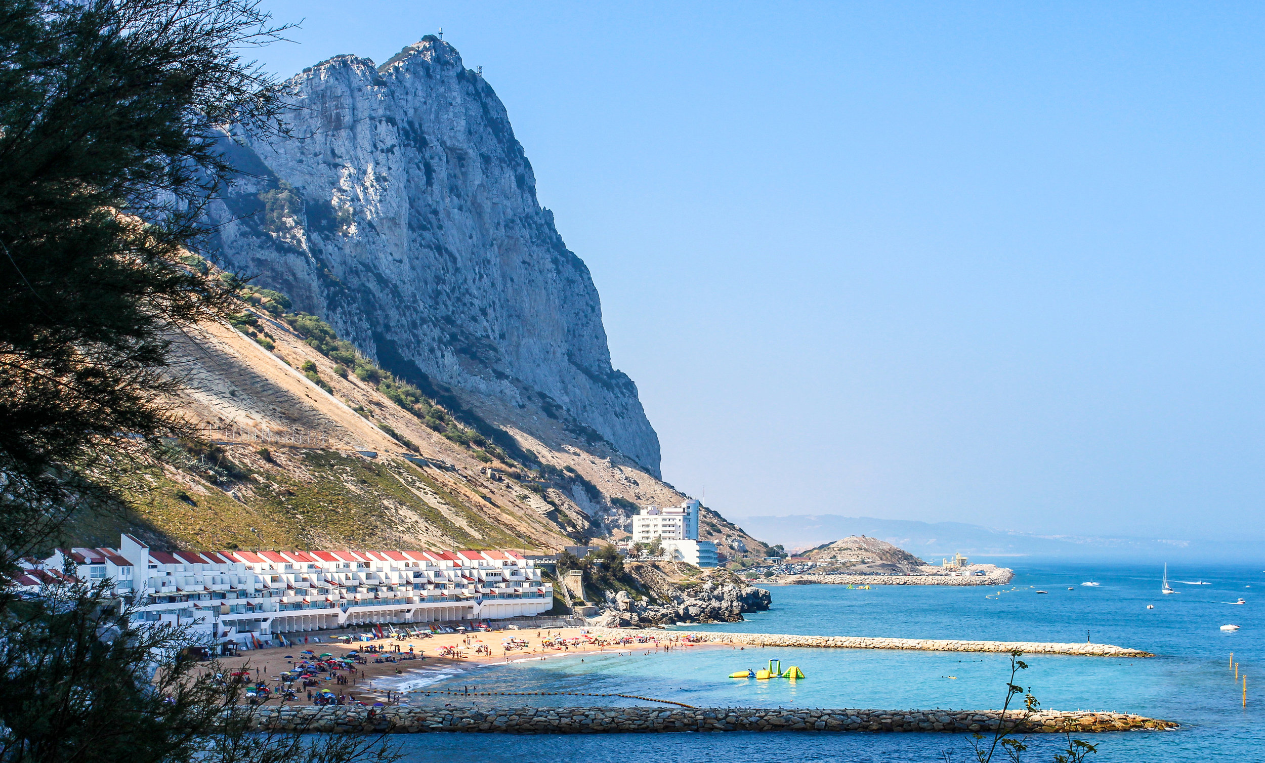 Catalan Bay Rock of Gibraltar, Mediterranean Sea, Gibraltar, British Overseas Territory, Europe | www.DoLessGetMoreDone.com |