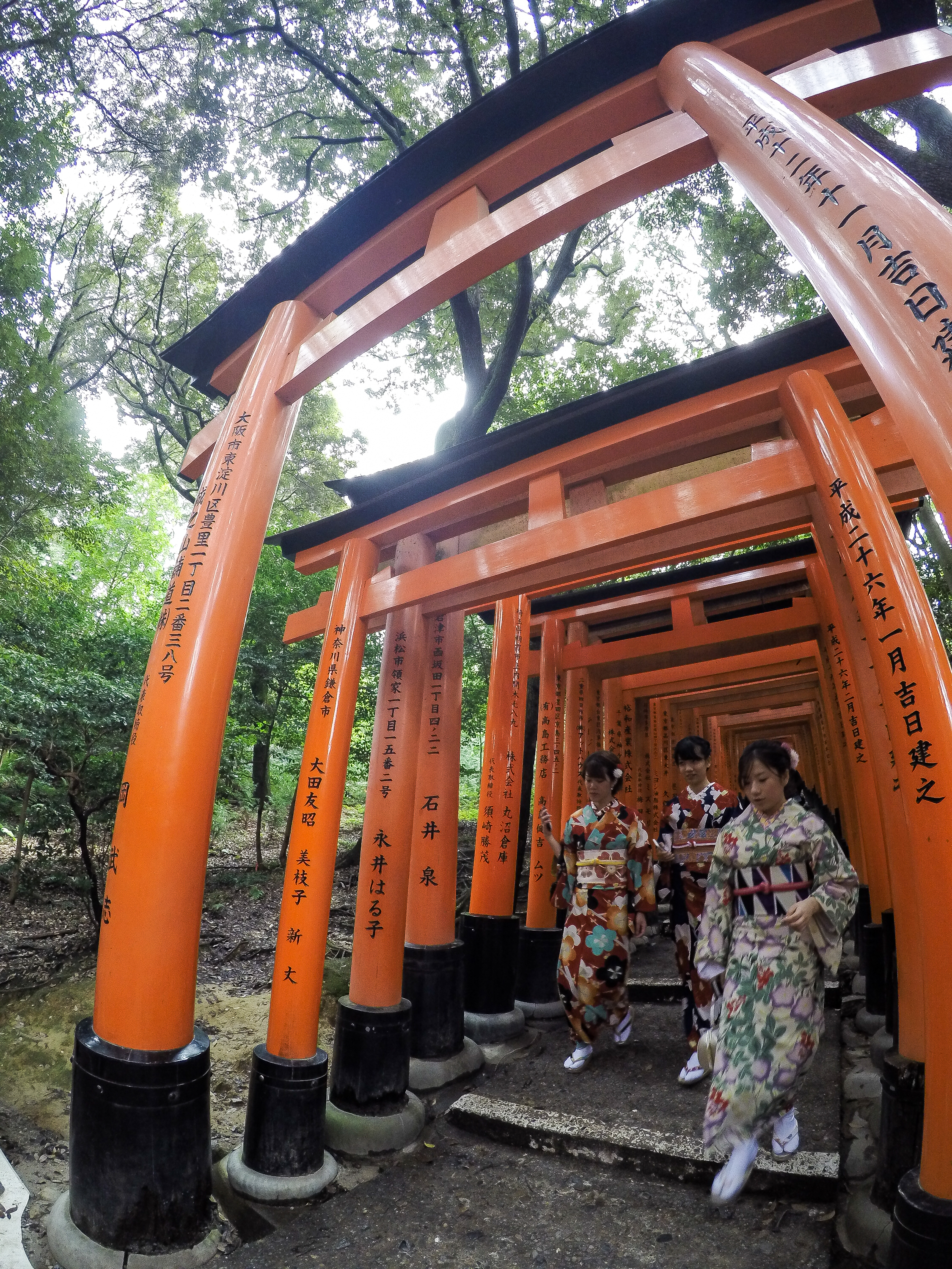torii gate, Japanese traditional clothing Kyoto, Japan, East Asia | DoLessGetMoreDone.com |