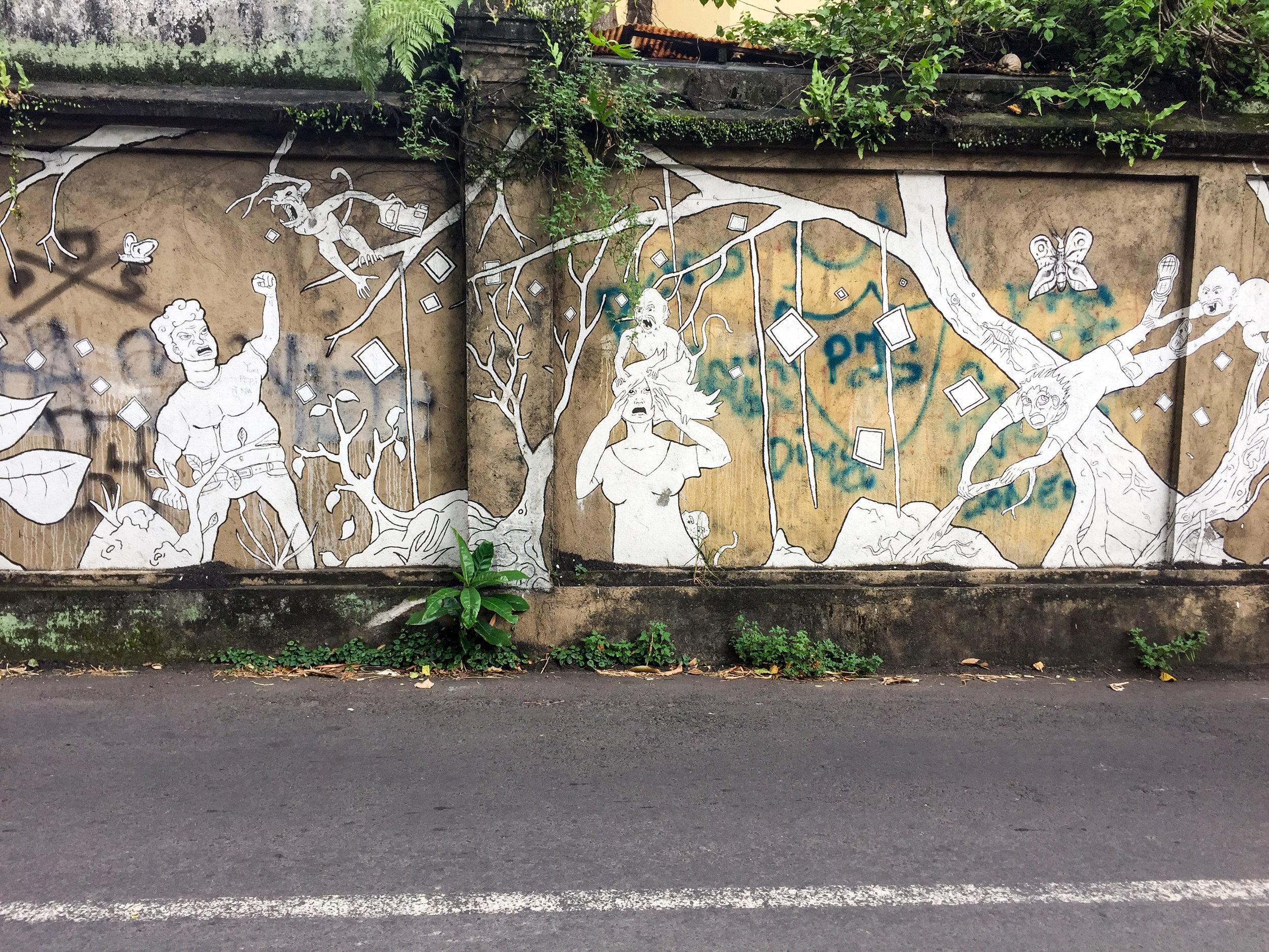 Street art, Ubud, Bali, Asia | DoLessGetMoreDone.com |