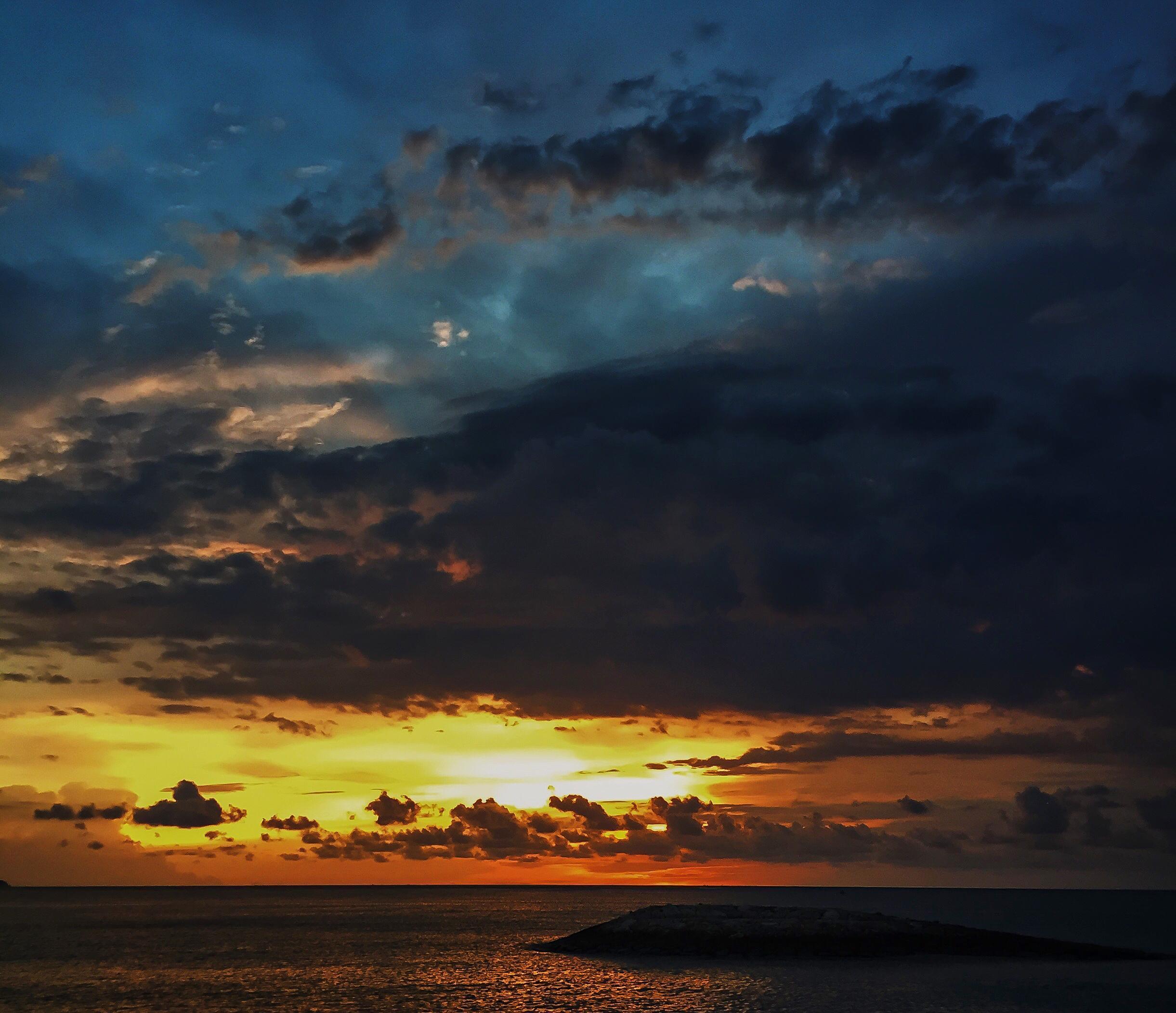 sunset, sky, clouds, sea, Bali, Indonesia, Asia | DoLessGetMoreDone.com |