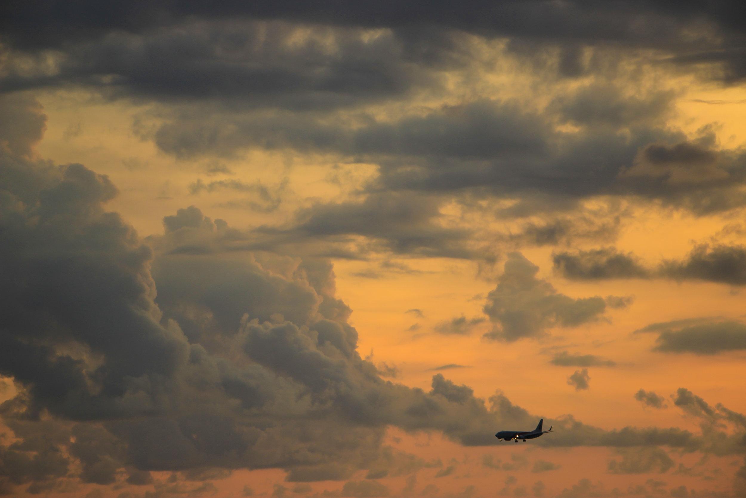 sunset, sky, airplane, Bali, Indonesia, Asia | DoLessGetMoreDone.com |