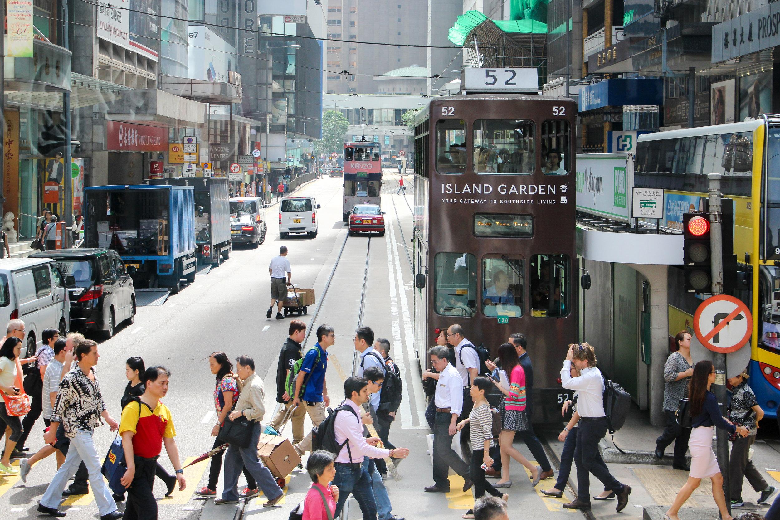 Hong Kong, Hong Kong Island, street photography, people, transport, Asia | DoLessGetMoreDone.com |