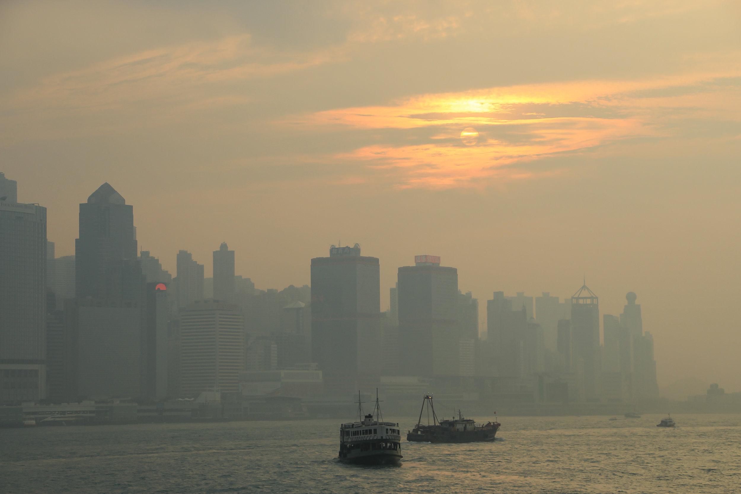 HONG KONG, HONG KONG ISLAND, SOUTH CHINA SEA, people, sunset, ASIA | DOLESSGETMOREDONE.COM |