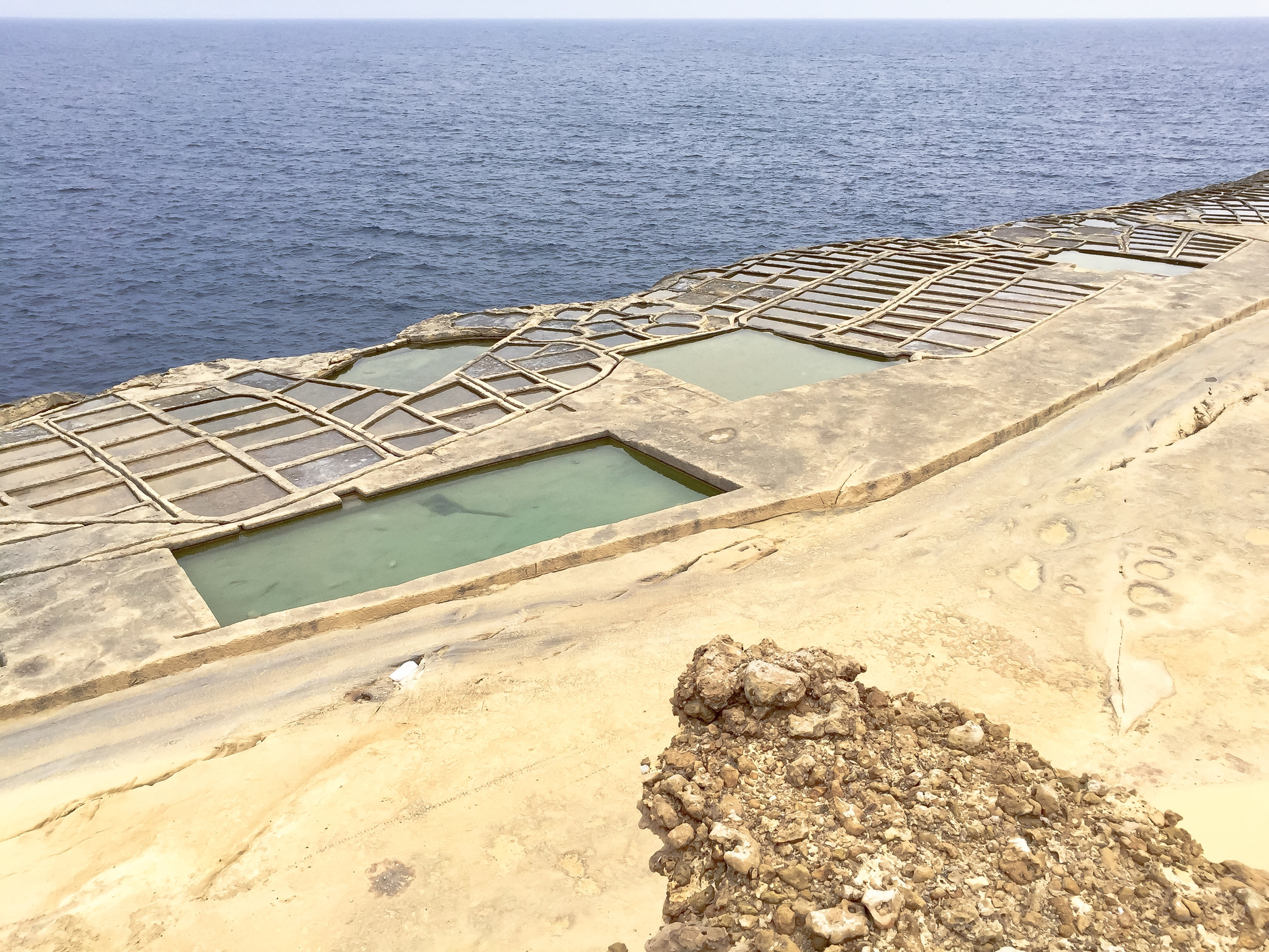 350-Year Old Salt Pans | Gozitan Traditional SEa-Salt Production | Mediterranean Coast | Nature | LAndscape - Thinking About Appreciation For Quality In Malta | Gozo, Malta, Europe | DoLessGetMoreDone.com | - iPhone Minimal Travel Documentary Photography - search for Liveability | Sustainability