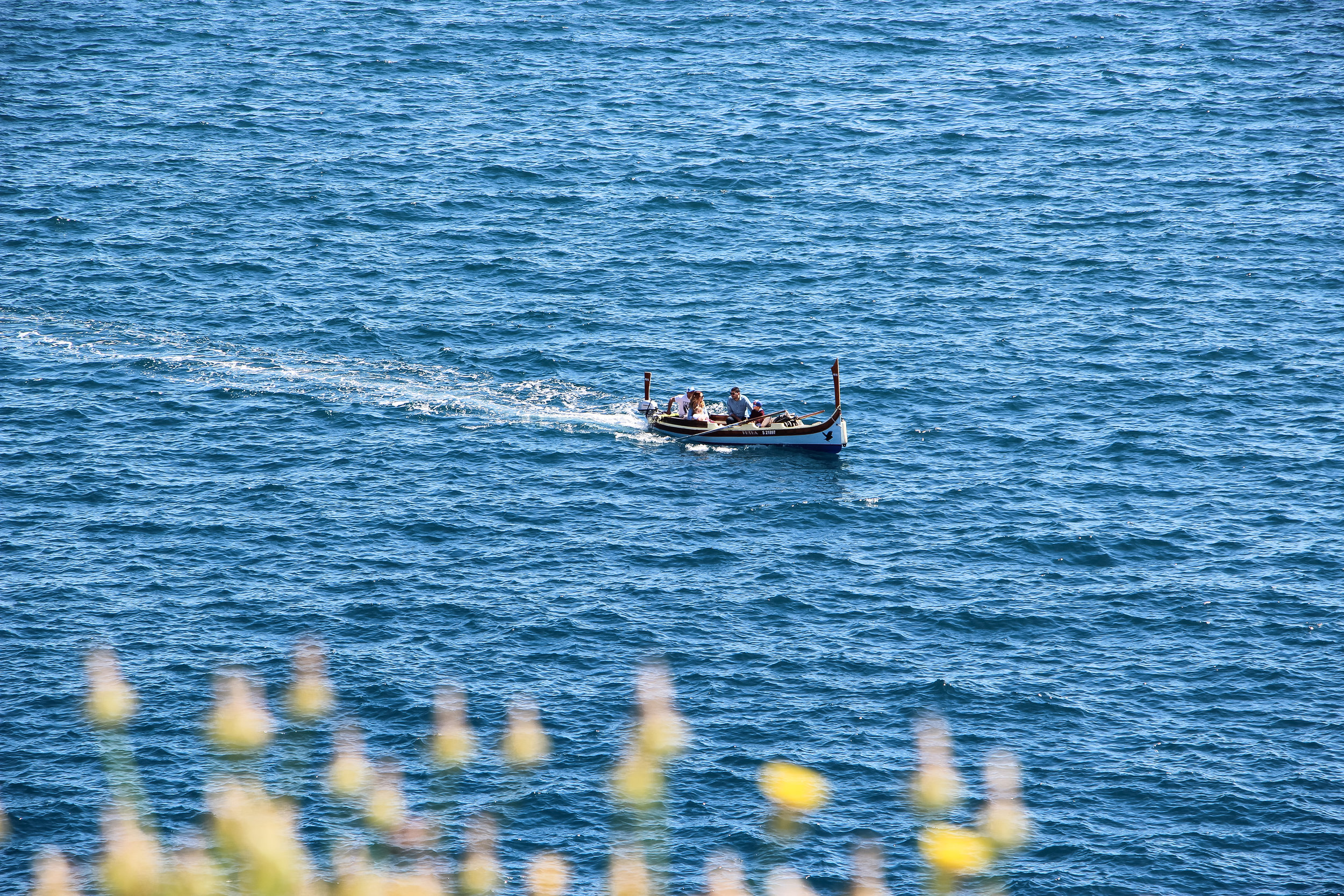 Maltese Boat   the Mediterranean Sea   Valletta   - Thinking About Appreciation For Quality In Malta   Malta, Europe   DoLessGetMoreDone.com   - Canon Minimal Travel Documentary Photography - search for liveability   Sustainability