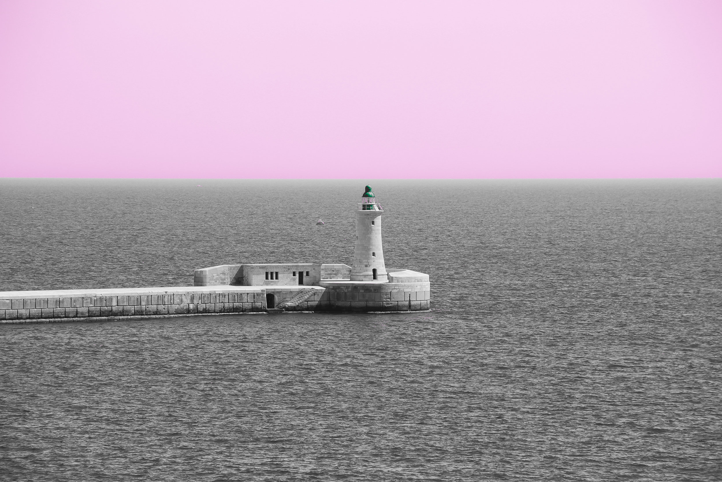 Grand Harbour Lighthouse | the Mediterranean Sea | Valletta | - Thinking About Appreciation For Quality In Malta | Malta, Europe | DoLessGetMoreDone.com | - Canon Minimal Travel Documentary Photography | Fine Art Photography - search for liveability | Sustainability