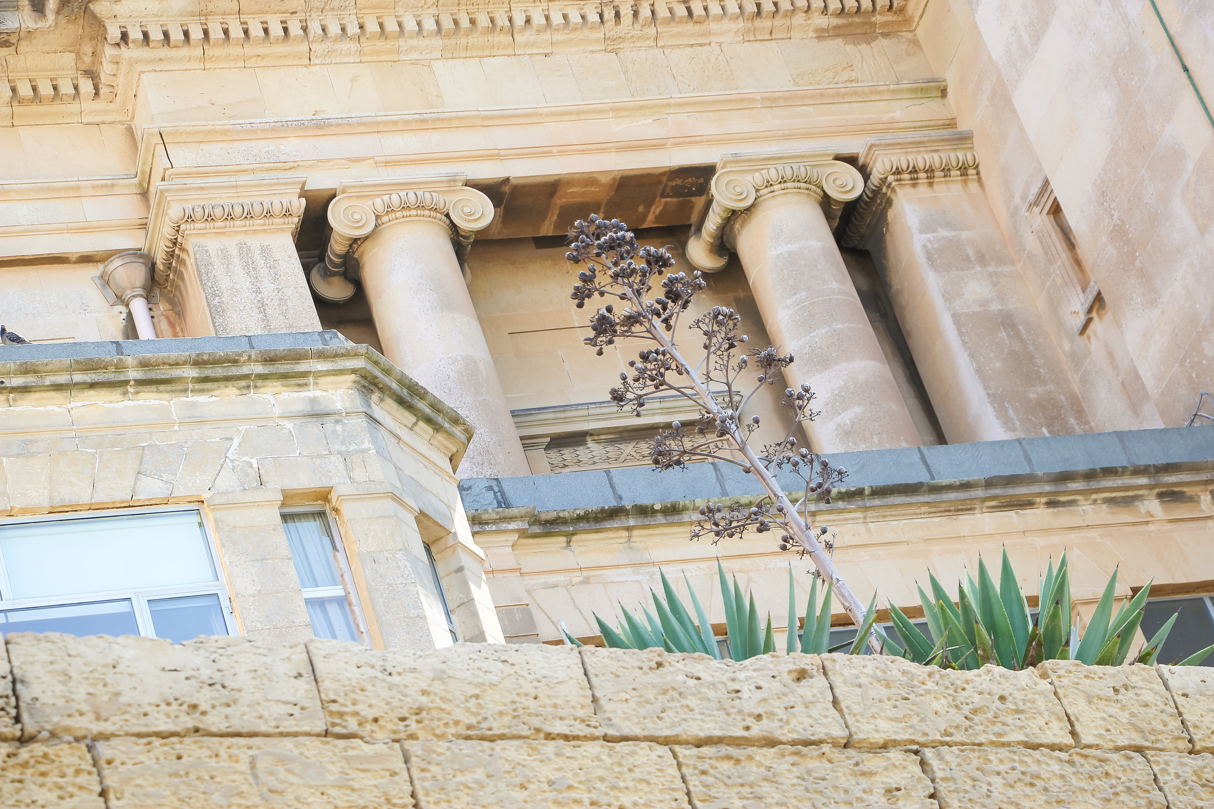 Architecture And Nature | House of Malta | Old Town of Valletta | - Thinking About Appreciation For Quality In Malta | Malta, Europe | DoLessGetMoreDone.com | - Canon Minimal Travel Documentary Photography - search for Liveability | Sustainability