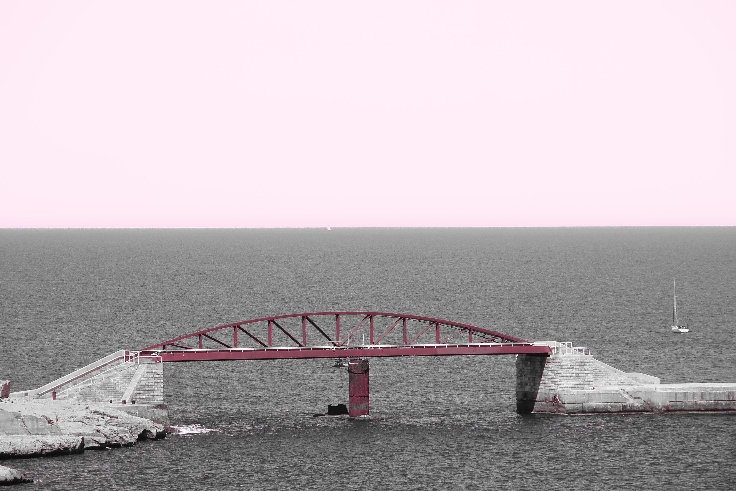 St Elmo Breakwater Bridge   the Mediterranean Sea   Valletta   - Thinking About Appreciation For Quality In Malta   Malta, Europe   DoLessGetMoreDone.com   - Canon Minimal Travel Documentary Photography   Fine Art Photography - search for liveability   Sustainability