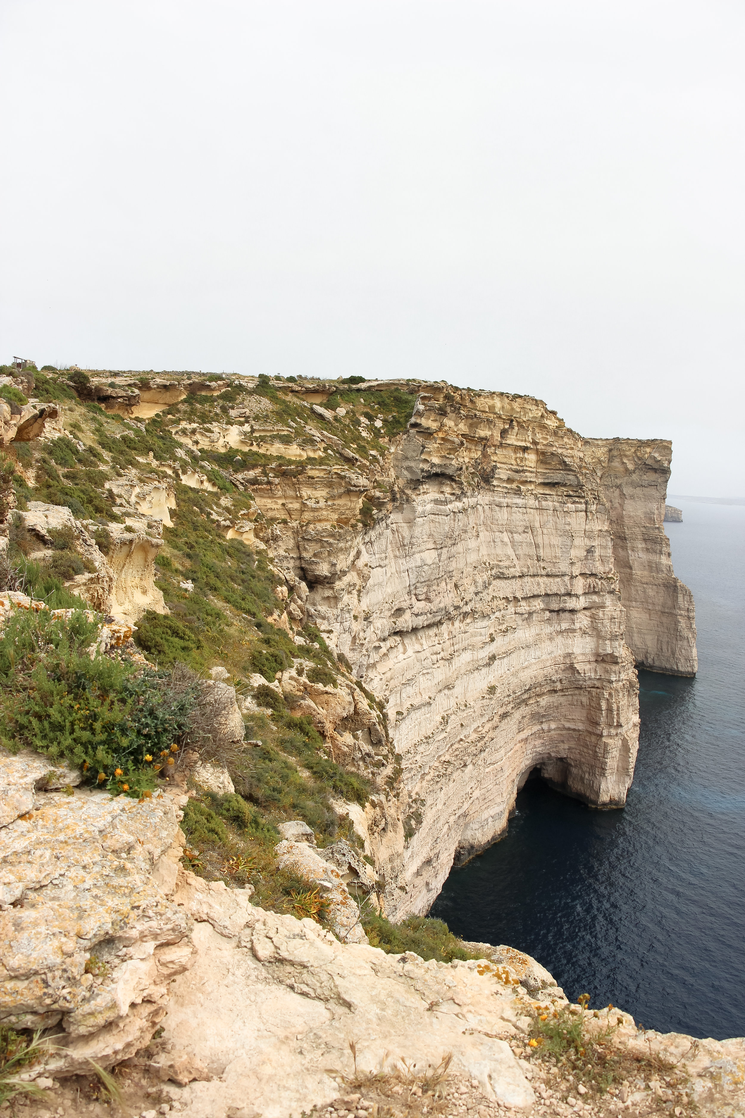 Sanap Cliffs | Mediterranean Coast | Nature | LAndscape - Thinking About Appreciation For Quality In Malta | Gozo, Malta, Europe | DoLessGetMoreDone.com | - iPhone Minimal Travel Documentary Photography - search for Liveability | Sustainability