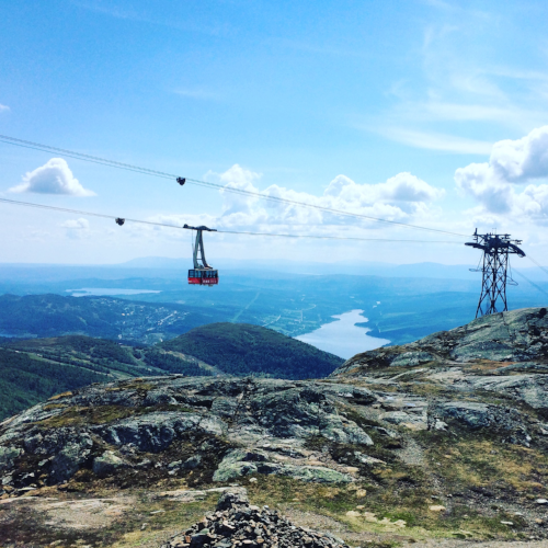 Swedish mountains, as seen from the higher section of the Åre ski area. Note the rolling quality of the granite.