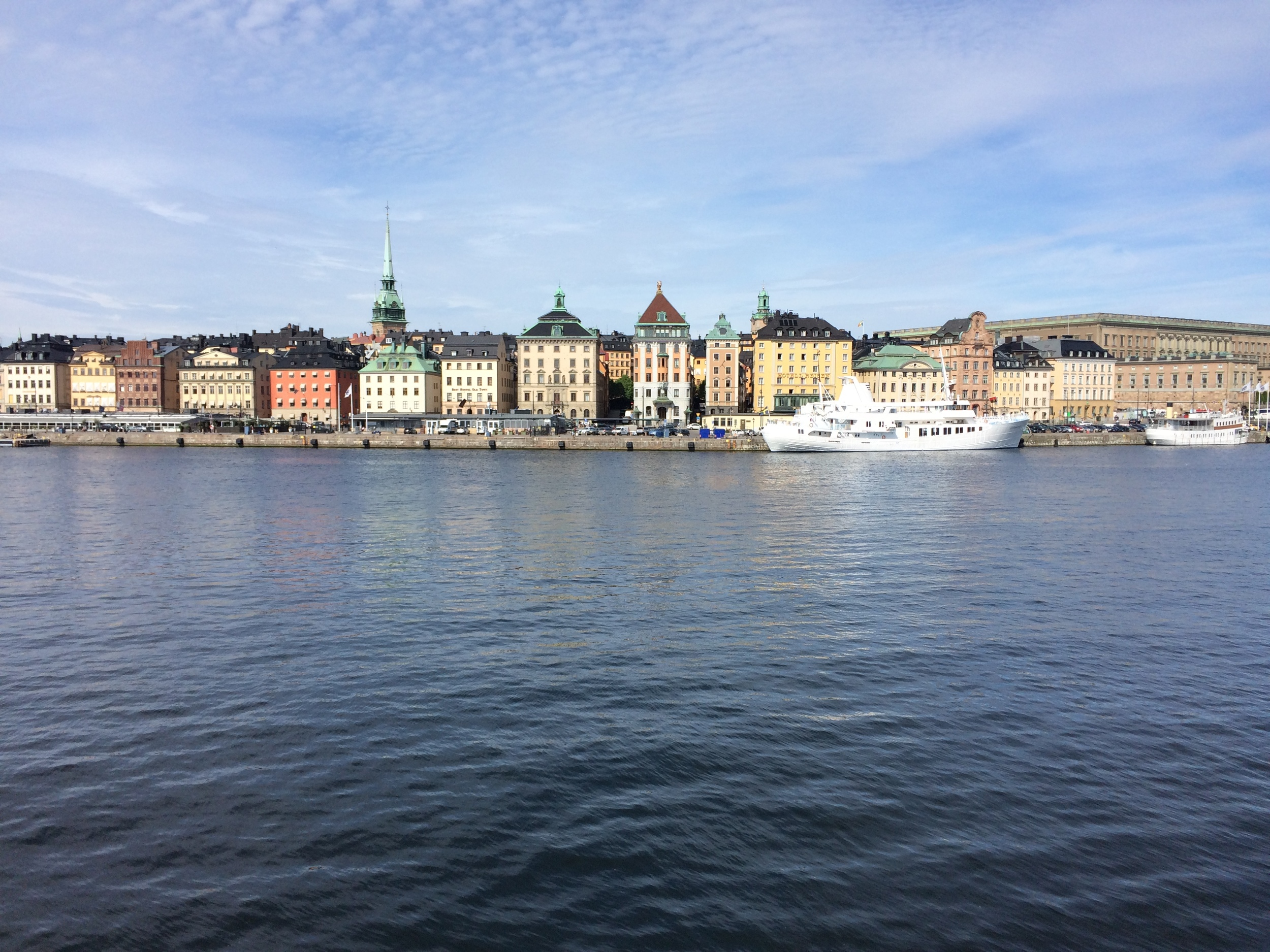 Here's a Stockholm photo! I loved the colors and the water and how walkable it is like dang it's great.