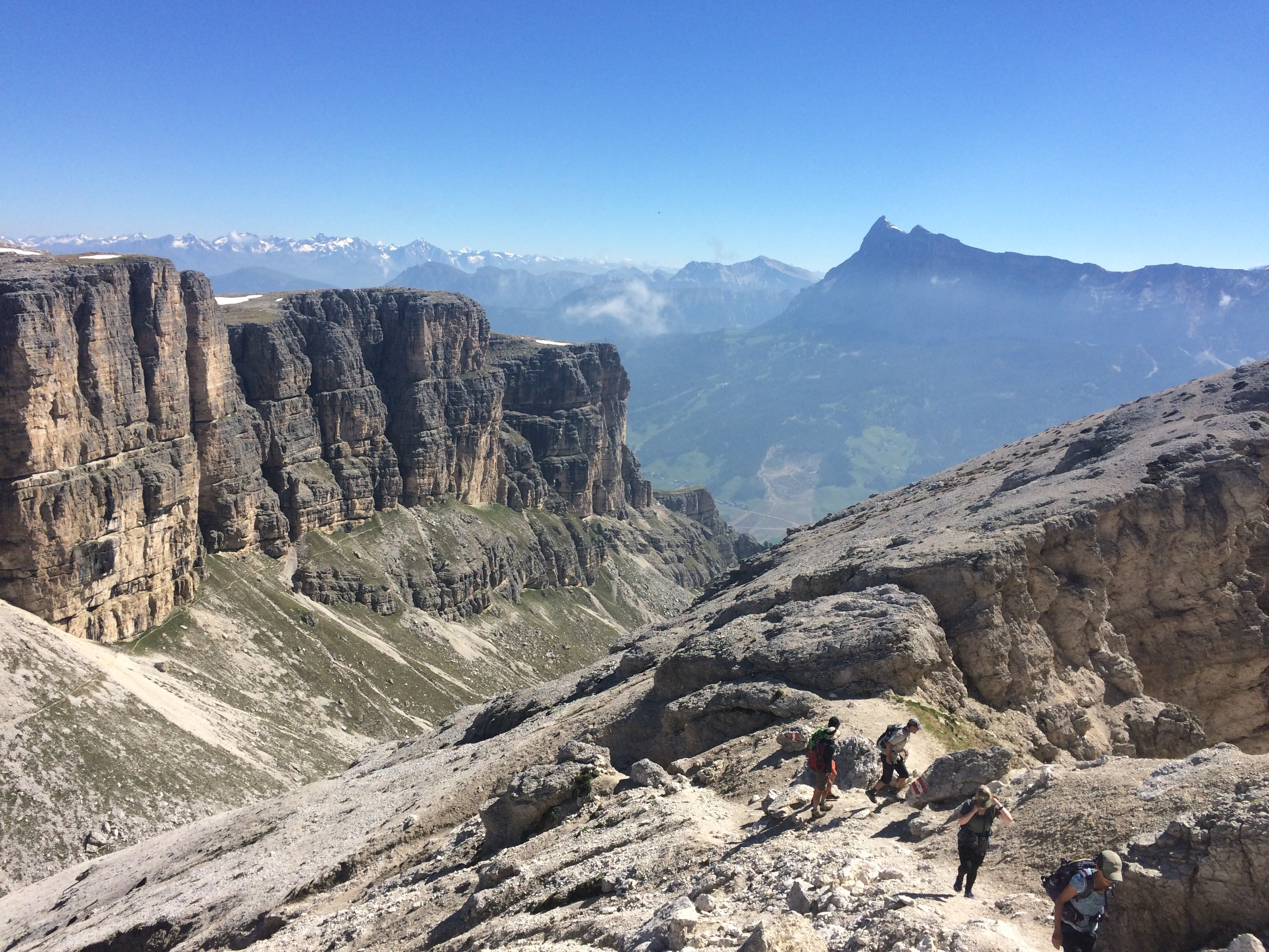 Welcome to the Dolomites! This is the view into Austria from the top of the Sassongher.