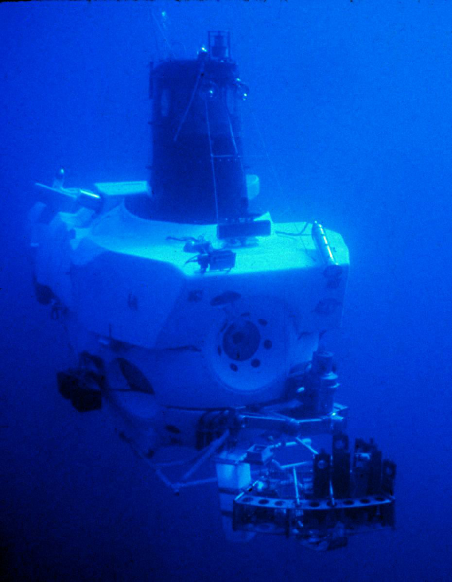 Figure 1: ALVIN, the first submersible - the Navy and the NSF had a very polite catfight over who got to use this cute little (17 ton) thing.