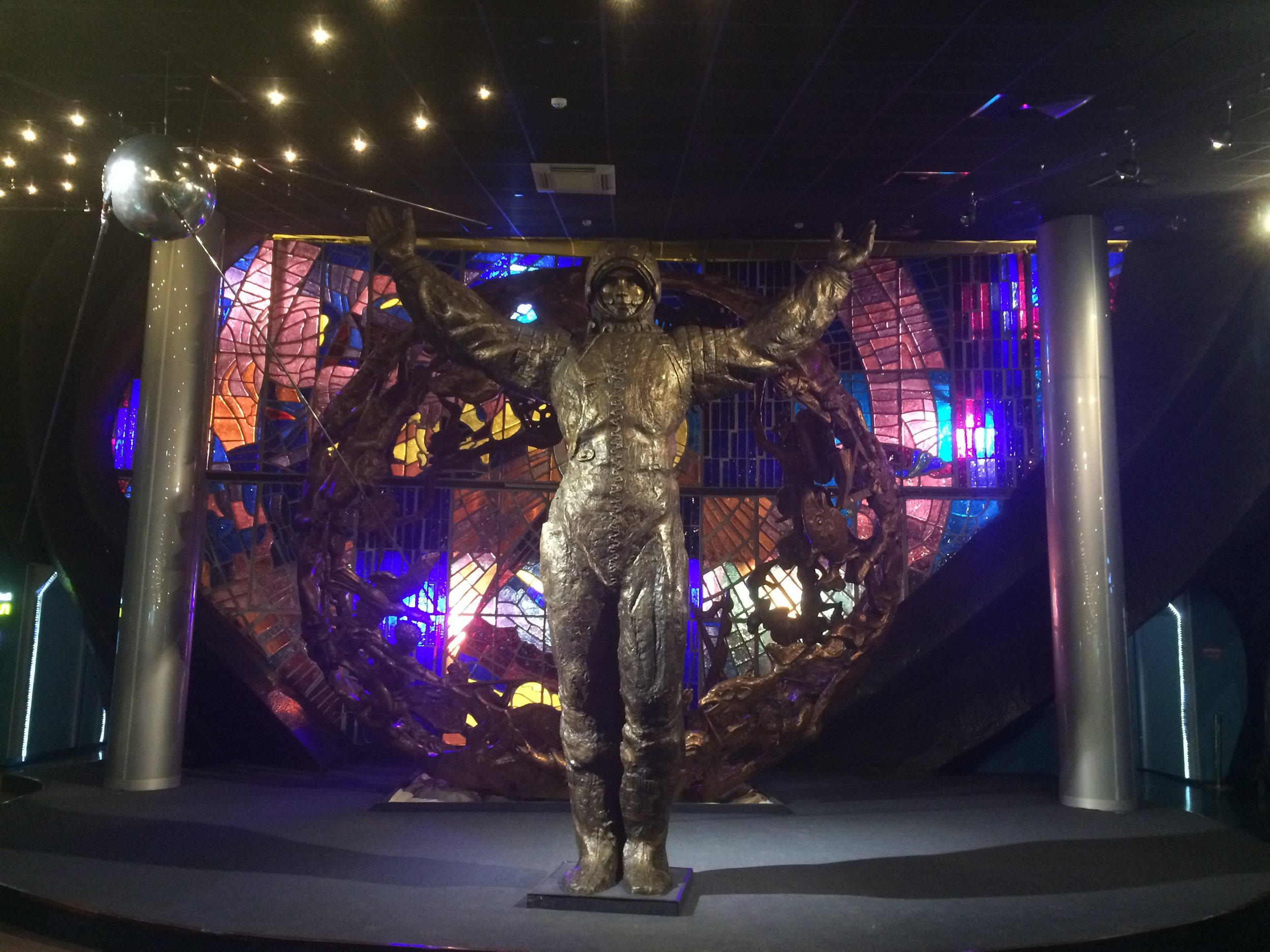 Figure 2. Within the Memorial Museum of Cosmonautics. The Soviet program made its cosmonauts collossal cultural figures,but at what cost?