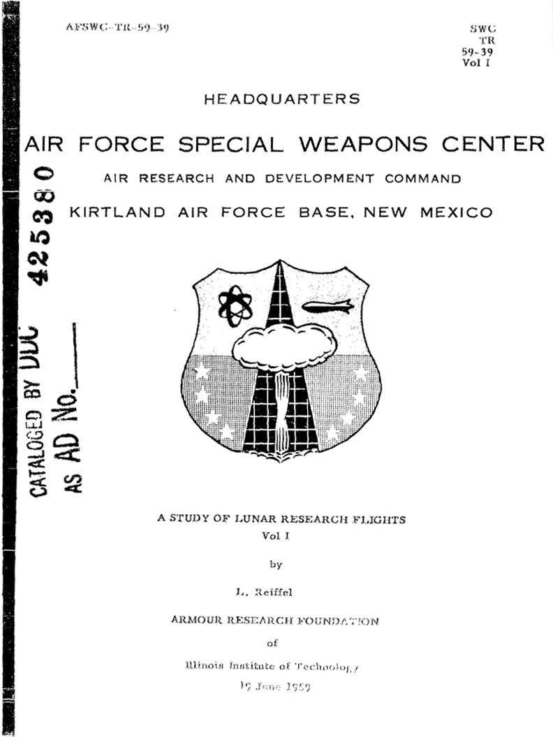 The cover from volume I of the report - volume II was allegedly destroyed.