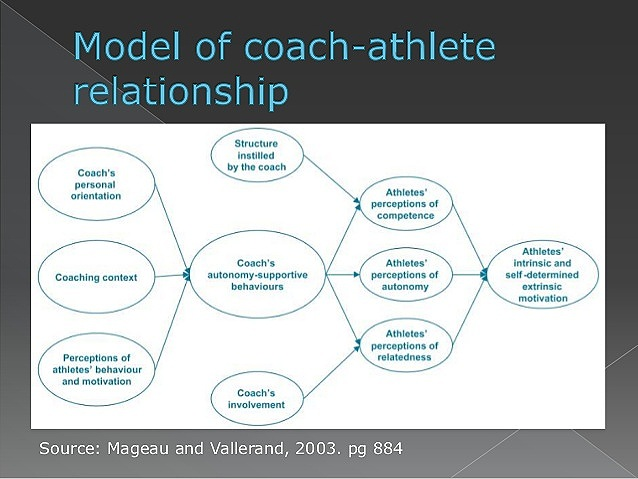 Autonomy support is a component of the motivational climate in sport that may promote an athlete's internalization of behaviors and attitudes.
