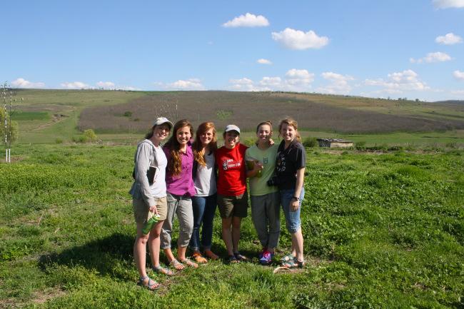 S.O.S. co-founders Brianna Weir, Morgan Barney, Maleah Weir,Kristie Watkins, McCall Barney, and Elise Moore in Cahul, Moldova.