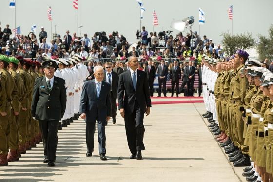 President Obama and Israeli President Shimon Peres on the March 20 visit to Tel Aviv (Whitehouse).