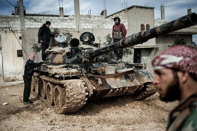Members of the Free Syrian Army. Photo courtesy of the  Freedom House .