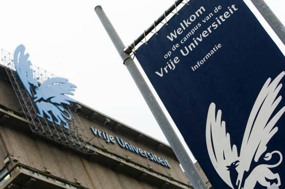 The blue griffin at VU University.