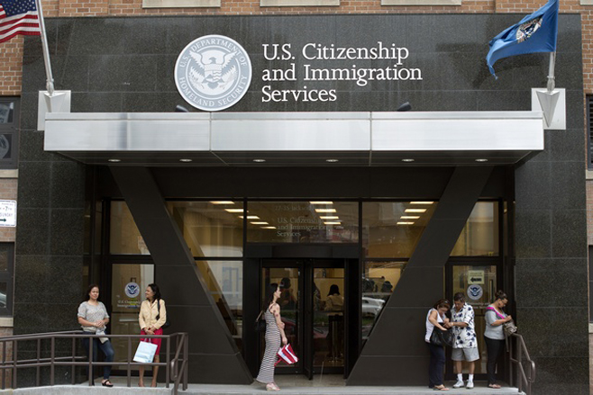 A U.S. Citizenship and Immigration Services office.