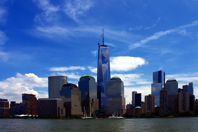 The Freedom Tower now stands where the World Trade Center once did. Photo courtesy of Arturo Yee.
