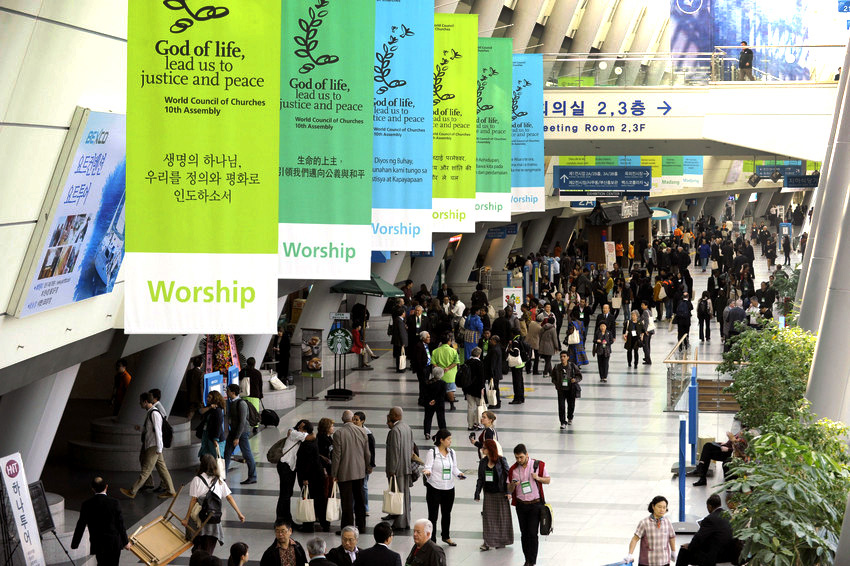 The World Council of Churches 10th Assembly in Busan, South Korea. Photo via Peter Williams.