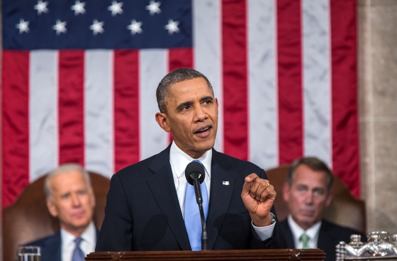 President Obama delivers the 2014 State of the Union address. Photo via www.whitehouse.gov.