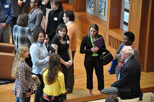 A young professionals networking event. Photo via blogs.psu.edu.