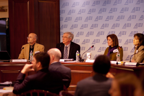 (Left to Right) Timothy Barnett, Stephen Monsma, Ruth Melkonian-Hoover, and Jennifer Walsh.
