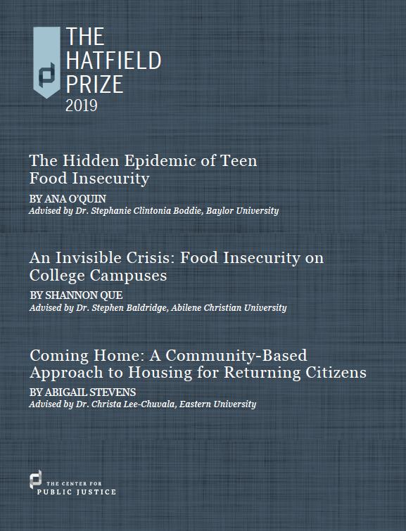 The 2019 Hatfield Prize Reports.