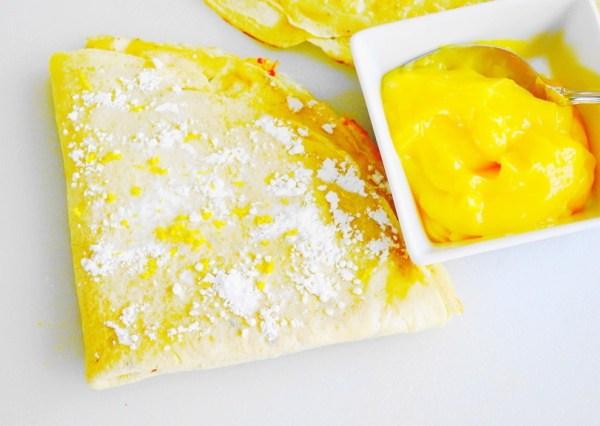 Lavender Lemon Curd Crepes