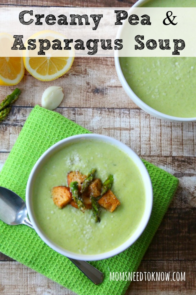 Mom will LOVE this creamy asparagus soup!