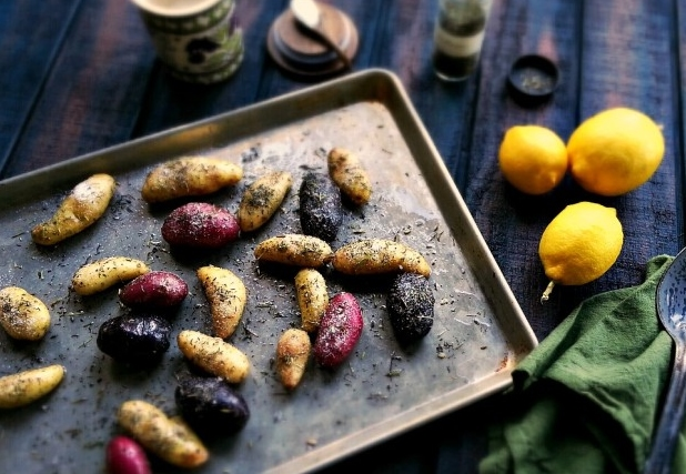 Grilled Fingerling Potatoes with Pollen Ranch Herbes de Provence