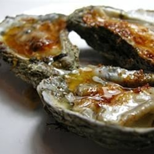 Grilled Oysters with Pollen Ranch Fennel Butter
