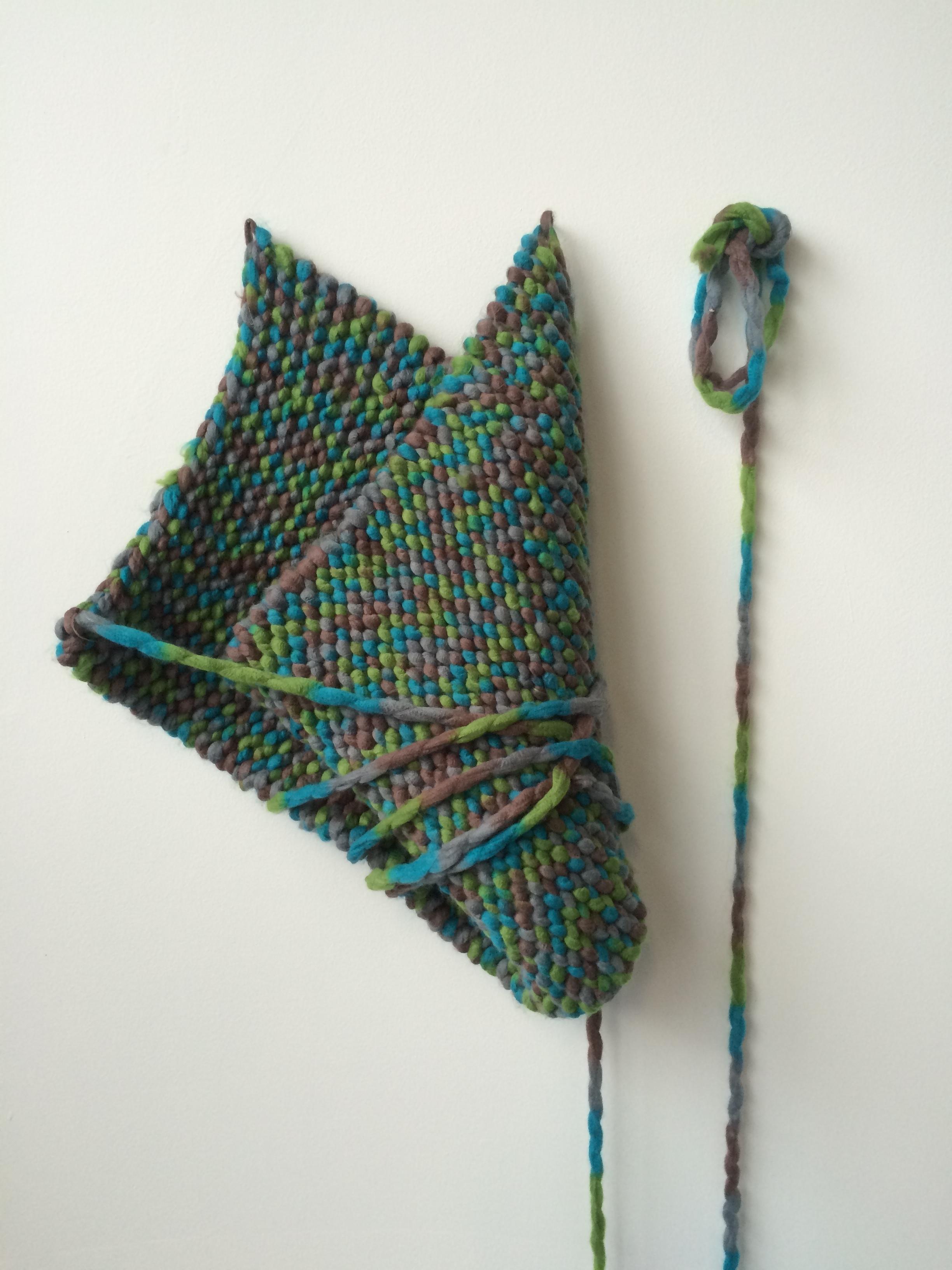 Maude Findlay  | 2015  | knitted acrylic yarn | variable dimensions
