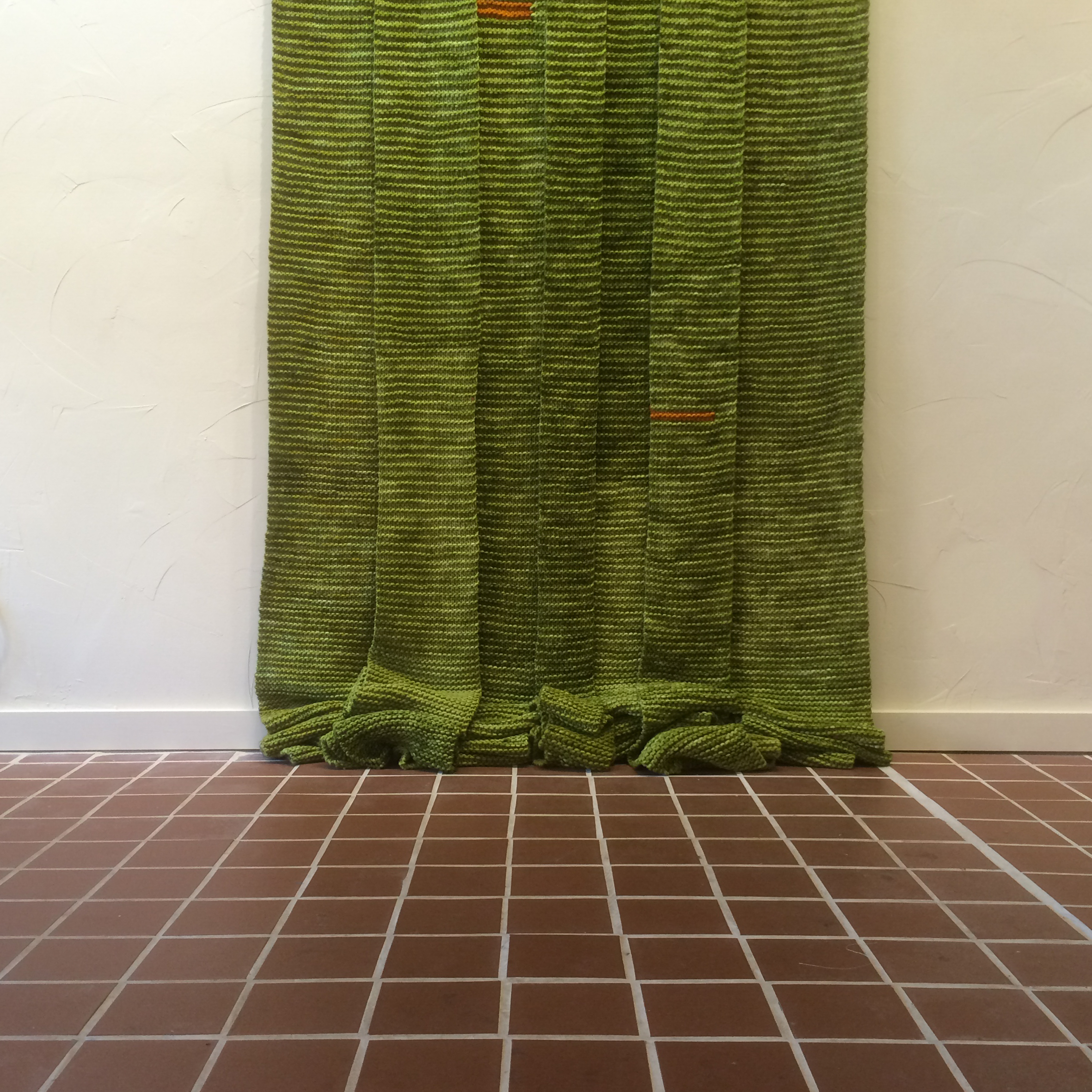 Entry to An Imagined Otherhood  | 2014  | hand-knitted wool | 120 x 48